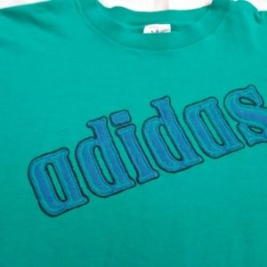 Vintage Adidas USA Green Short Sleeve Shirt XL